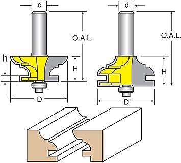 Woodtek 821047 Router Bits Door Construction Stile \u0026 Rail - Cabinet Rail