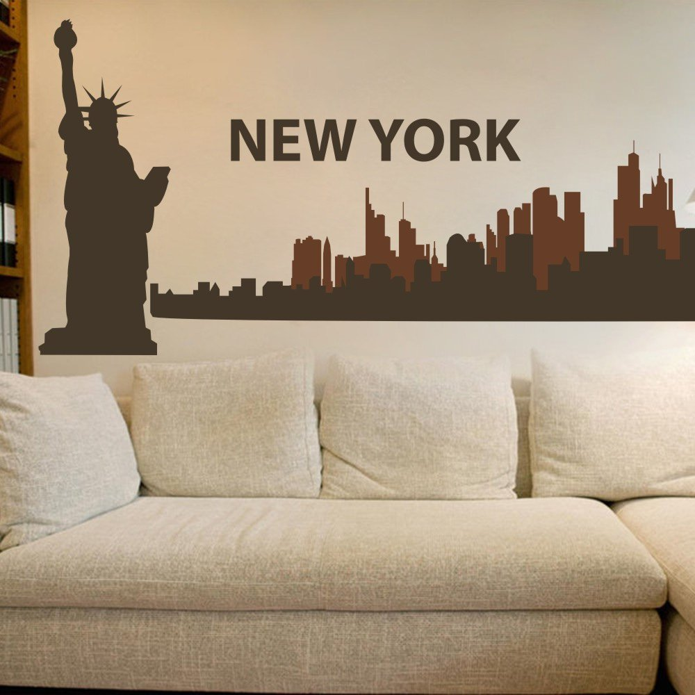 Amazon The Big Apple New York City Skyline Wall Decal Vinyl