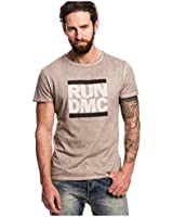 RUN DMC - DISTRESSED LOGO - OFFICIAL MENS T SHIRT