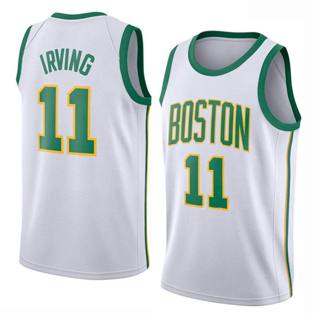 blanc(a) L ANHPI-Jersey Kyrie Irving   11 Maillot De Basketball pour Hommes - NBA Boston Celtics, Chandail De Maillots Swinghomme Brodés