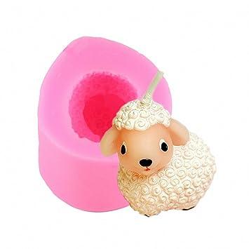 3d con diseño de oveja – oveja moldfun Craft – Molde de silicona para decoración de