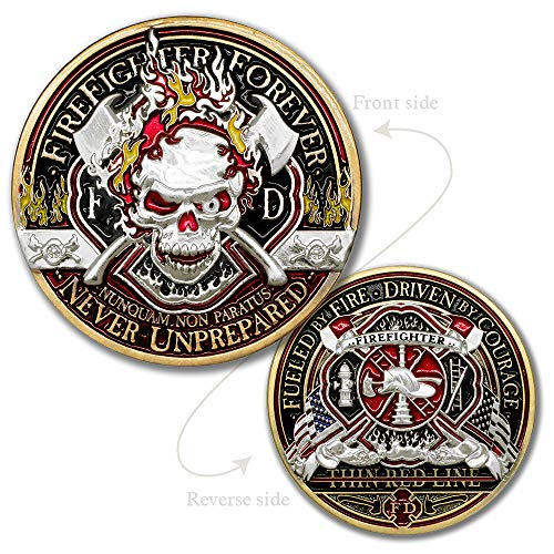 Thin Red Line · Firefighter Forever Challenge Coin