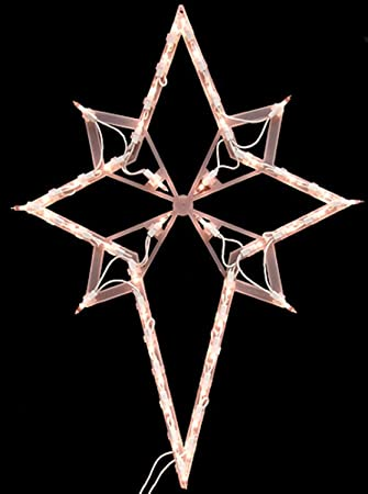 Amazon by impact 22 lighted star of bethlehem christmas by impact 22 lighted star of bethlehem christmas window silhouette decoration 1 aloadofball Gallery