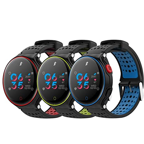 Amazon.com: Star_wuvi Fitness Tracker Smart Watch, Activity Tracker Watch with Heart Rate Monitor, Step Counter Message Push Smart Fitness Watch, ...