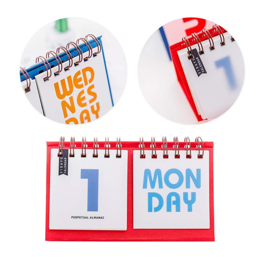 Flip-on Calendar Daily Planner 2018//2019 Home Desk Decoration