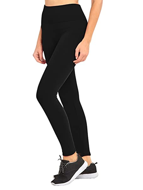 b327df521dbb7 Luxury Divas Black Wide Band Fleece Lined Womens Winter Leggings at ...