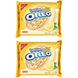Oreo Sandwich Cookies - Lemon Creme - 15.25 Ounces (Pack of 2)