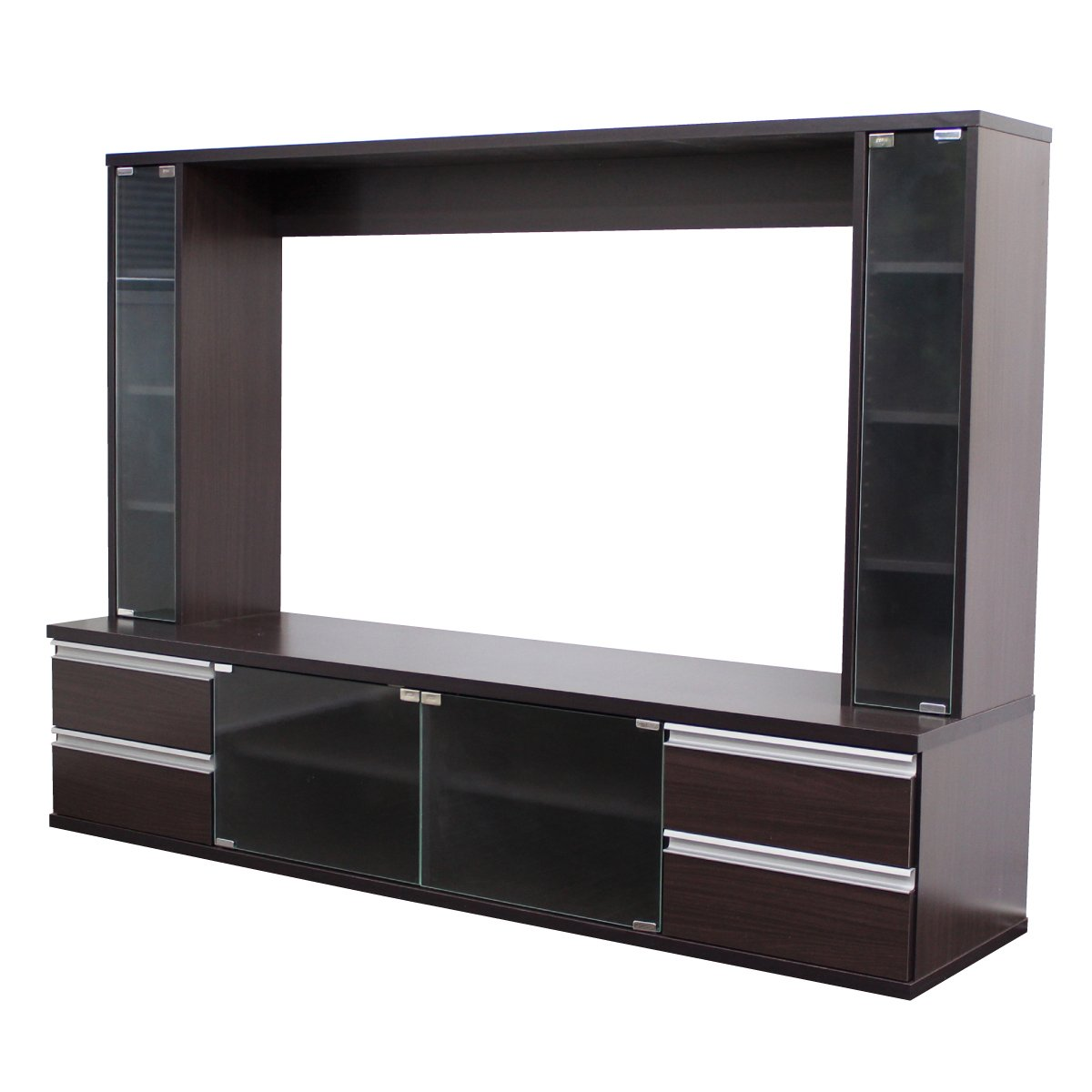 テレビ台 60インチ対応 大型テレビ台 60型 ゲート型 AVボード ダークブラウン TVボード TCP301-DBR J-Supply B079PKBGW7