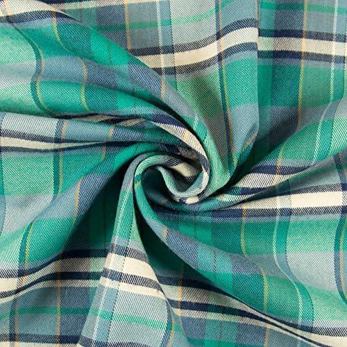 sustancias Werning Franela algodón Cuadros Verde Azul Tela de ...