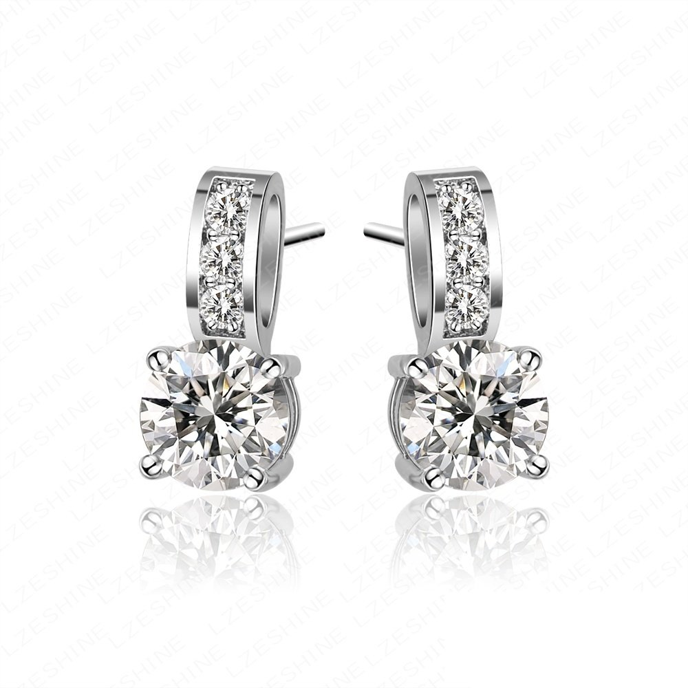 Evertrust (TM) Small Size Earrings Classic Engagement Earings Cubic Zirconia Drop Earrings CER0036-B by EverTrust