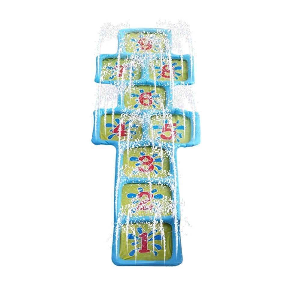 Tapis de pulvérisation d'eau Carré Grille, Gonflable Jet d'eau Numéro Pad Été Enfants En Plein Air Gonflable Jet d'eau Numéro Pad Été Enfants En Plein Air S-tubit
