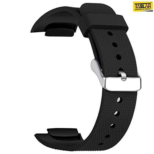 Taslar Watch Band Soft Silicone Replacement Sport Strap for Samsung Gear Fit 2 SM-R360 / Fit 2 Pro Smart Watch (Fits 4.96