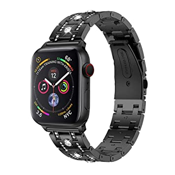 Accessory for Apple Watch 4 Halloween Hot Sale!!Kacowpper New Fashion Rhinestone Replacement...