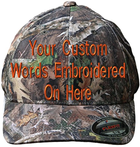 (Custom Hat Flexfit 6988 Embroidered. Your Own Text Curved Bill (S/M, 6988 TrueTimber Kanati Camo))