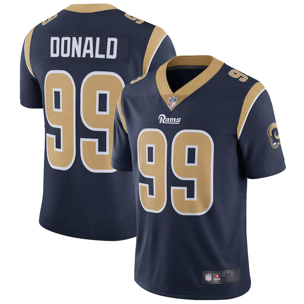 Limited Blue Navy Home 99 Los Jersey Rams Men's Stitch Donald Angeles Aaron