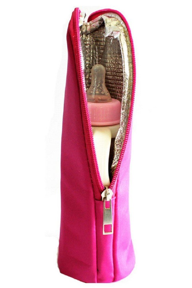 Elisona/®Baby Infant Child Thermal Feeding Milk Water Bottle Warmers Stroller Hanging Tote Bag Storage Pouch Handbag Brown
