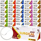 Suture Thread with Needle 30Pk
