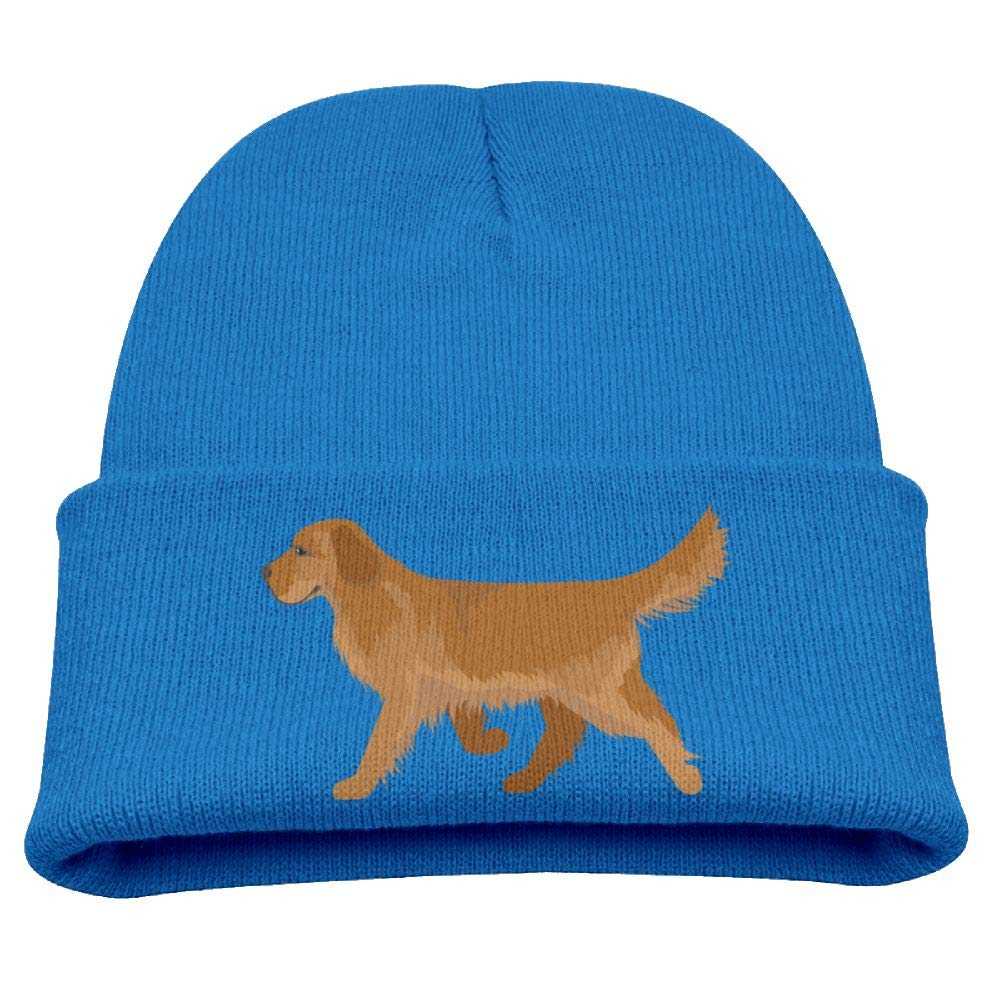 Cute Golden Retriever Beanie Cap Knit Hat Winter Warm Baby