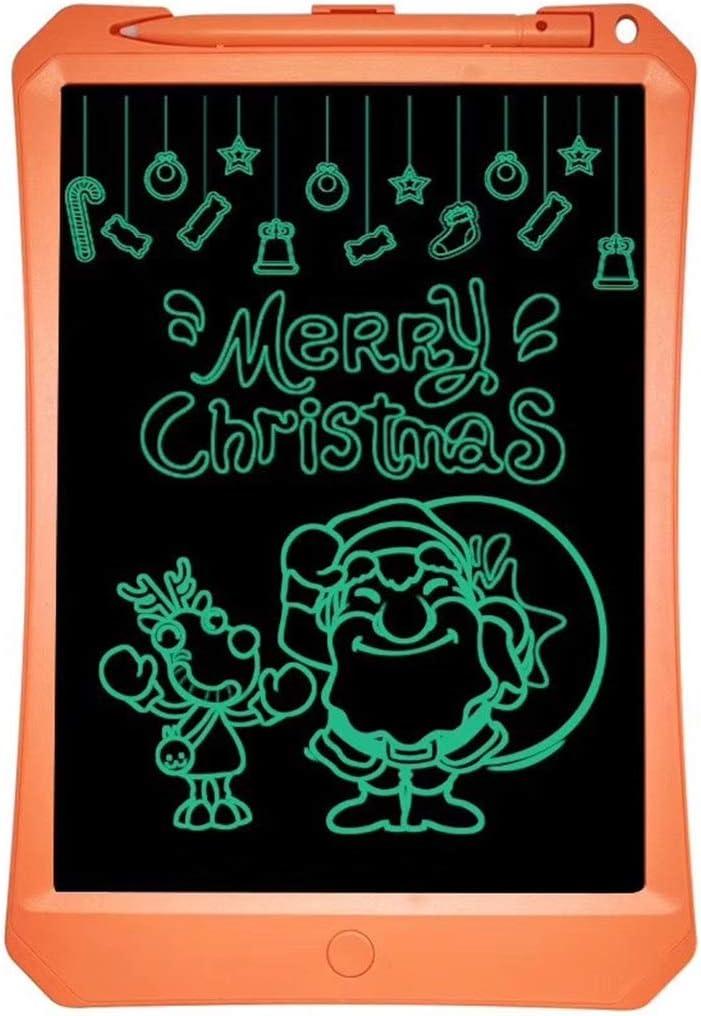 One-Click Delete 11 Inch Light Energy Small Blackboard//Childrens Writing Board//LCD Tablet Graffiti Sketch Digital Memorandum for for Kids and Adults Orange