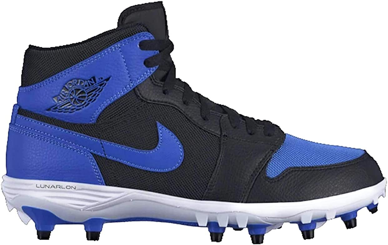Amazon Com Nike Jordan 1 Td Mid Mens Soccer Shoes Ar5604 041 11 Black Royal Royal White Basketball