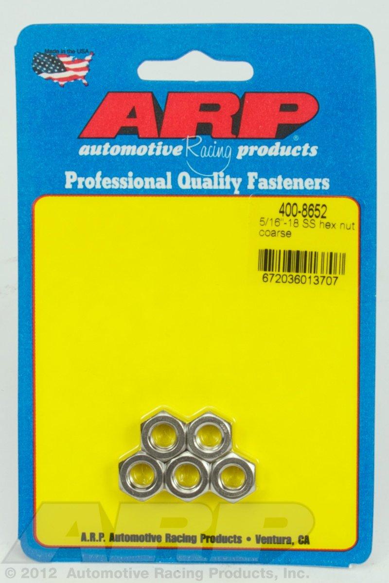 ARP (400-8652) Hex Nut Kit, Stainless Steel
