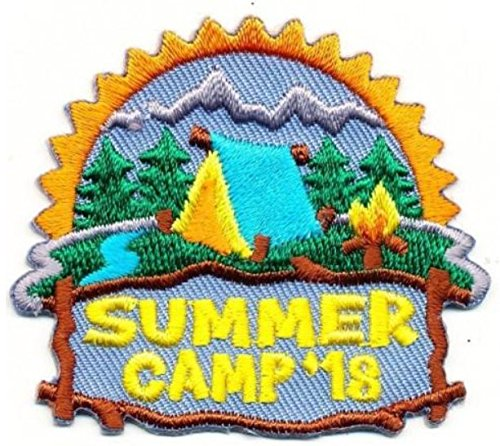 Cub Girl Boy SUMMER CAMP 2018 Embroidered Iron-On Fun Patch Crests Badge Scout Guides