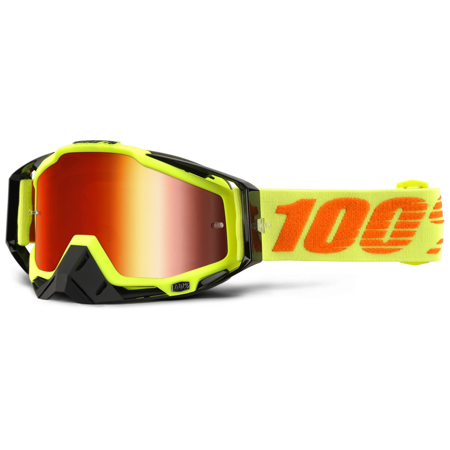 100% RACECRAFT EXTRA Crossbrille - Attack Yellow Grö ß e UNI Z5570-110-026-02