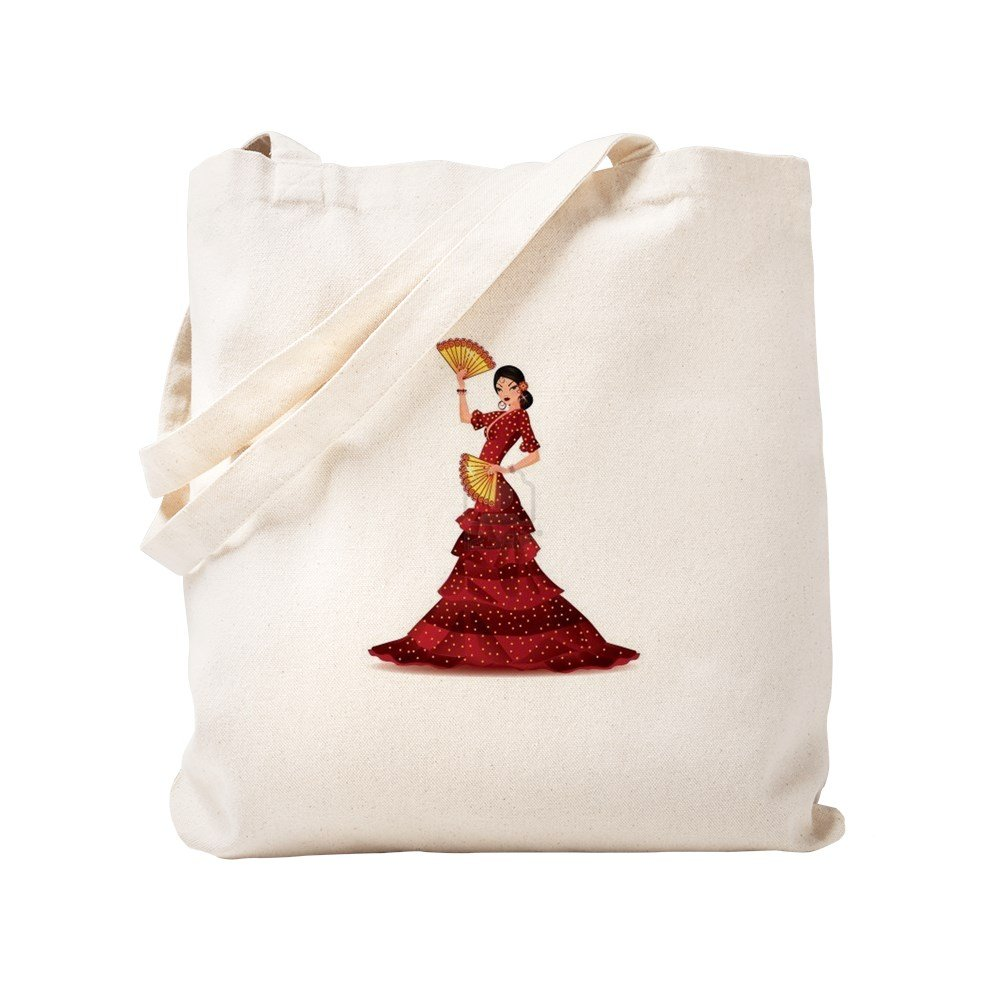CafePress – スペイン語Flamenco Dancer – ナチュラルキャンバストートバッグ、布ショッピングバッグ S ベージュ 1398050898DECC2 B0773TTHC7 S