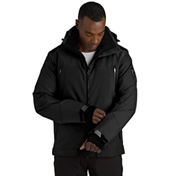 e22c08a835 Emporio Armani EA7 Men s High Tech 4-Way Stretch Ski Jacket X-Large Black   Amazon.co.uk  Sports   Outdoors