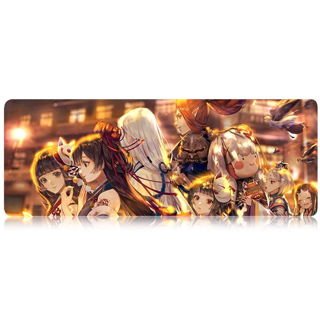 QYSZYG Large Expansion Gaming Mouse Pad Animation Game Character Keyboard Pad Desktop Pad Increase Thickening Anti-Skid Wear 30×70cm 5 Styles Available (Color : C, Size : 4mm) by QYSZYG