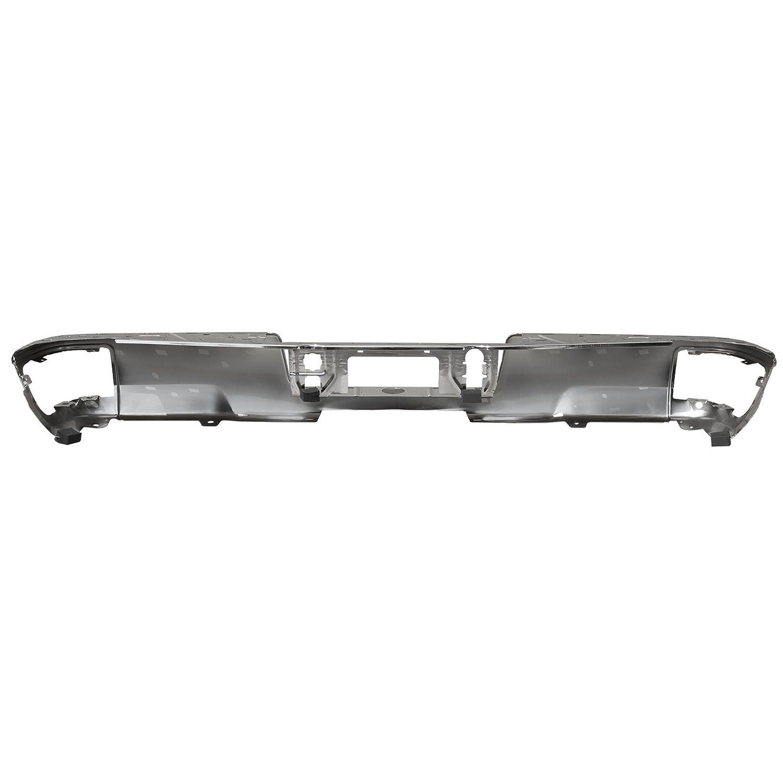 GM1102558 Rear Step Bumper Face Bar for 2014 2015 2016 2017 2018 Chevy Silverado /& GMC Sierra MBI AUTO Steel Chrome