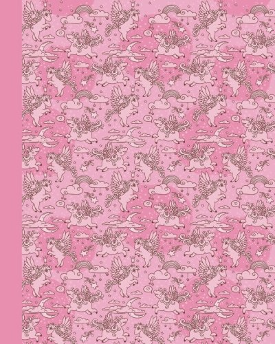Sketch Journal: Baby Pegasus (Pink) 8x10 - Pages are lightly lined with EXTRA WIDE RIGHT MARGINS for sketching, drawing, and writing (8x10 Baby Animals Side Sketch Journal Series) by CreateSpace Independent Publishing Platform