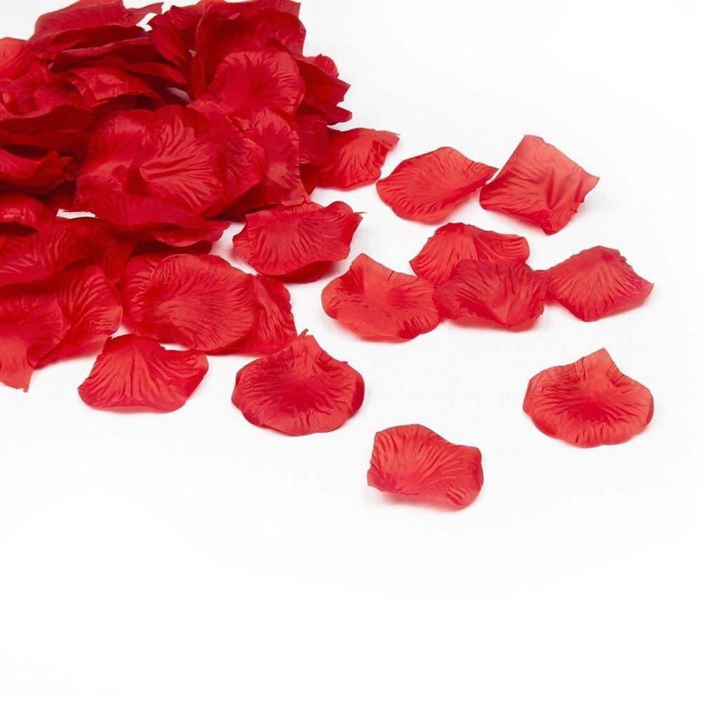 Amazon red silk rose petals 200 petals by efuture home kitchen mightylinksfo