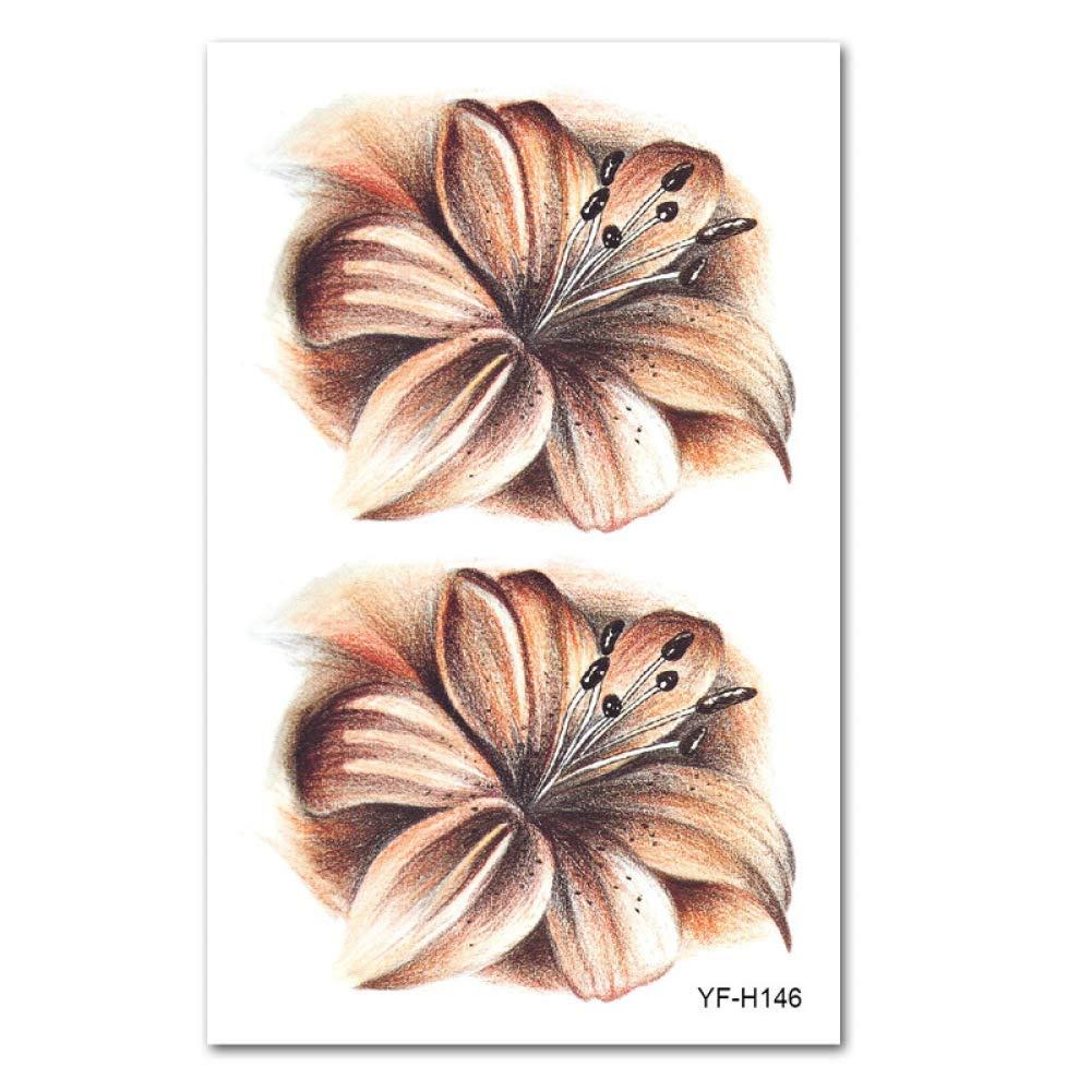 Pegatinas de tatuaje Europa y América brazo de flores imagen ...