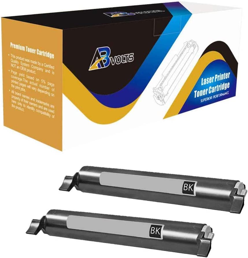 AB Volts Compatible Toner Cartridge Replacement for Panasonic KX-FAT461 for KX MB2000 MB2010 MB2030 MB2031 Black,2-Pack