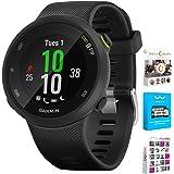 Garmin Forerunner 45S GPS Heart Rate Monitor Running Smartwatch - (Renewed) Bundle with Fitness & Wellness Suite (WEYV, Yoga