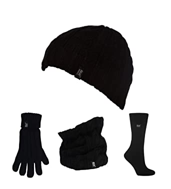 403feedc98f7 HEAT HOLDERS - Ensemble Bonnet, écharpe Gants - Femme - Multicolore -  Taille Unique