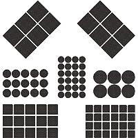 BESROY Antislip meubelonderlegger, 186 antislip pads van celrubber, vilten onderlegger, 8 maten, meubelglijders voor…