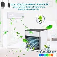 NiLeFo 3 in 1 USB Portable Mini Air Conditioner,Air Conditioner – Mini Air Cooler – Personal Cooling Fan- Humidifier, Purifier