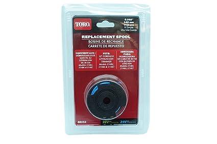 Amazon.com: Genuine OEM Toro 88532 Trimmer Spool Fits 12 ...