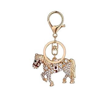 Yeshi - Llavero de caballo con diamantes de imitación para ...