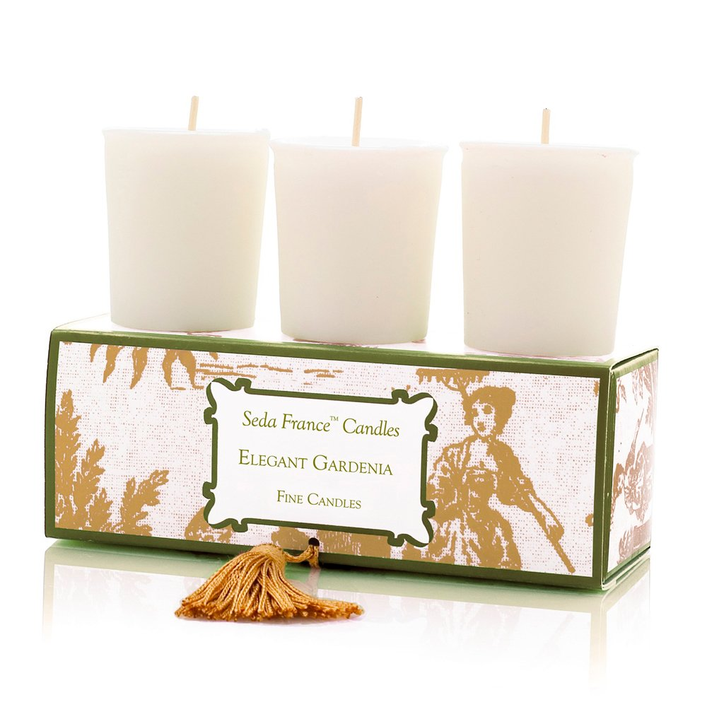 2 Ounce 00135JQU Japanese Quince Seda France Classic Toile Votive Candles