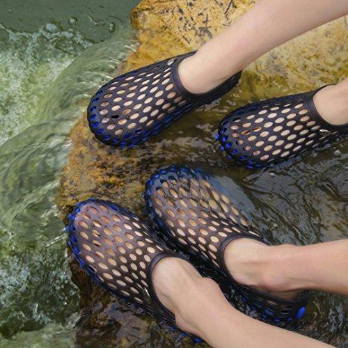 hunpta Unisex Quick Drying Men Beach Slipper Women Breathable Outdoor Sandals Shoes Blue ZdQgw7cod
