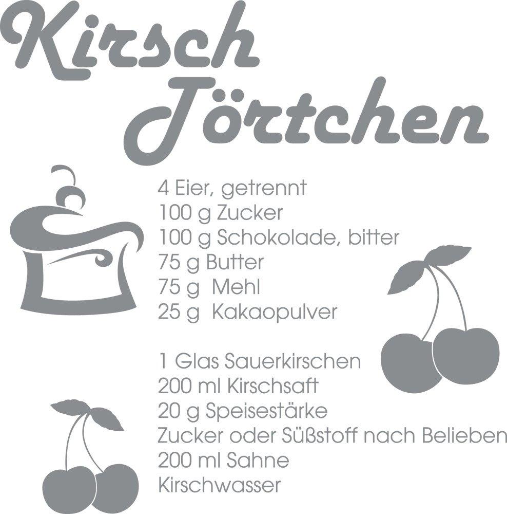 GRAZDesign 620313_57_074 Wandtattoo Rezept Kirsch-Törtchen | Sprüche ...