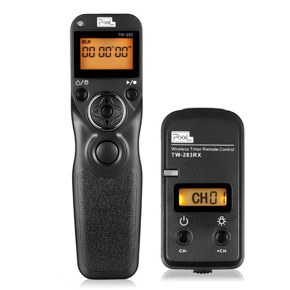 Pixel TW-283 E3 LCD Wireless Remote Shutter Release Cable Wired Remote Control Cord for Canon XT, XTi, XS, XSi, T1i, T2i, T3, T3i, T4i, T5, T5i, T6i, SL1, EOS1300D,300D,60D,60Da,70D,80D