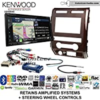 Volunteer Audio Kenwood Excelon DNX694S Double Din Radio Install Kit with GPS Navigation System Android Auto Apple CarPlay Fits 2009-2010 Ford F-150 (Milano Maple Woodgrain)
