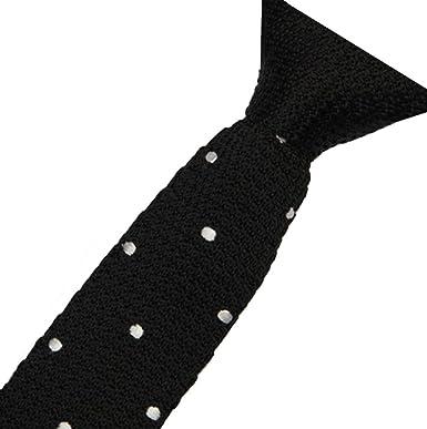 226f71cfaee5 Men's knitted tie handmad narrow slim skinny tie plain woven necktie square  end