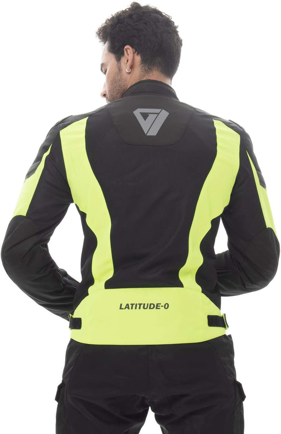 Nerve Shop Leichte D/ünne/Mesh Motorradjacke Latitude-/Roller/Motorrad Jacke Herren Kurze Textil M/änner/Protektorenjacke Sommerjacke Luftdurchl/ässig S schwarz-neon-gr/ün