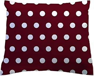 product image for SheetWorld - Toddler Pillowcase Hypoallergenic Made in USA - Polka Dots Burgundy 13 x 17
