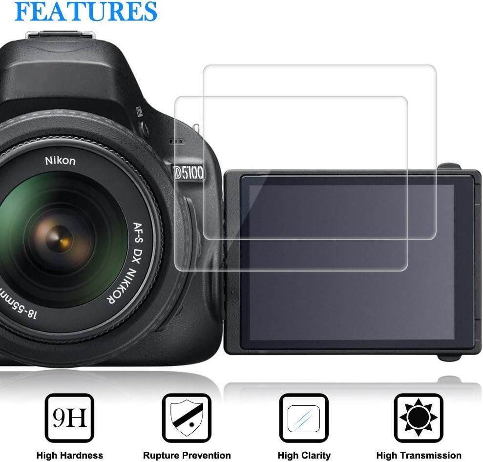 AFUNTA Protectores de Pantalla para Nikon D5100 D5200, 2 Packs ...